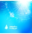 Technological background of blue cogwheel vector image