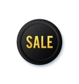 Black round sale sticker with golden letters vector image