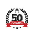 50 th birthday vintage logo template fifty years vector image vector image