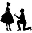 a man on his knees makes a proposal vector image vector image