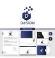 abstract design logo branding with stationery vector image vector image