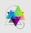 abstract geometric gradient background vector image vector image