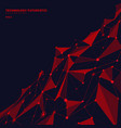abstract red polygonal shapes on dark blue vector image vector image