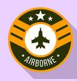 airborne logo flat style