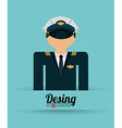 airplane pilot vector image vector image