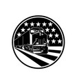 american diesel locomotive train front view vector image vector image