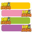 banner template with dinosaur eggs vector image vector image