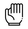 baseball glove icon outline vector image vector image