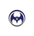 bat icon logo template vector image vector image