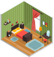 bedroom interior concept vector image vector image