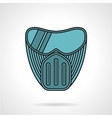 Blue paintball mask flat icon vector image