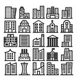 building icons on white background vector image vector image