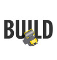building roller top view vector image