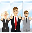 businessmen showing thumbs up in an office vector image vector image