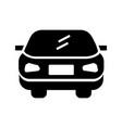 car glyph black icon vector image vector image