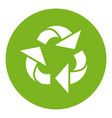 cartoon recycle sign vector image