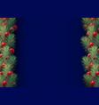 christmas border background vector image