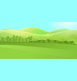 clear landscape with green hill mountains grass vector image vector image