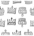 collection crown various pattern style vector image vector image