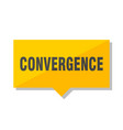 convergence price tag vector image vector image