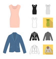 different kinds of clothes cartoonblackflat vector image