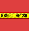 do not cross yellow striped line on red vector image