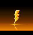 electric lightning icons on a dark background vector image vector image