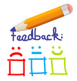 Feedback Icon with Pencil vector image