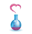 flask with a heart vector image vector image