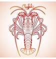 Graphic crayfish vector image vector image