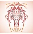 Graphic crayfish vector image