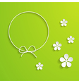green spring background with a frame vector image vector image