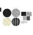 hand drawn patterns - rounded vector image vector image
