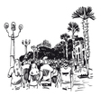 Hand drawn resort city vector image vector image