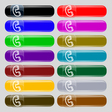 handset icon sign Set from fourteen multi-colored vector image vector image