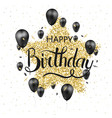 happy birthday typography design for vector image