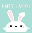 happy easter bunny rabbit face cute cartoon vector image vector image