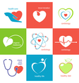 Health care heart icons vector image vector image