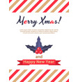 holly berry leaves christmas card vector image vector image