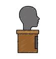 human head icon vector image