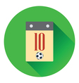 Icon of football calendar vector image vector image