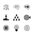 Idea icons set Business strategy and management
