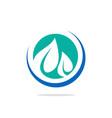 leaf bio vegetarian logo vector image