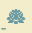 lotus flower flat icon with scuffed effect vector image