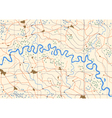 Meandering river vector image vector image