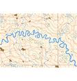 Meandering river vector image vector image