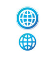 modern blue globe icon in circle earth or world vector image vector image