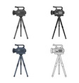 movie camera on a tripod making a movie single vector image vector image