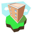 multi-storey building 3d vector image vector image