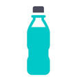 new gray turquoise icon on a white background vector image